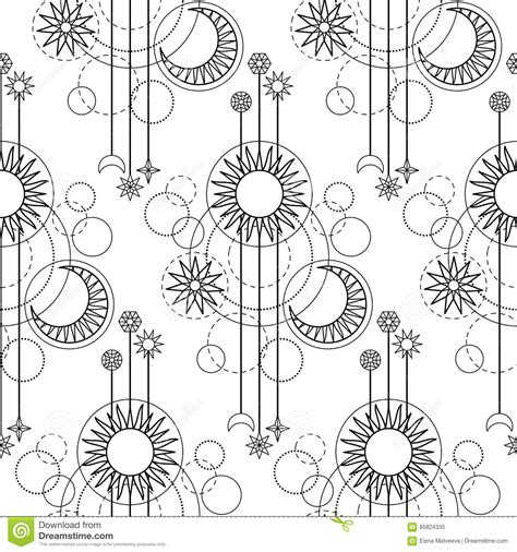 astrology modern seamless pattern stock vector