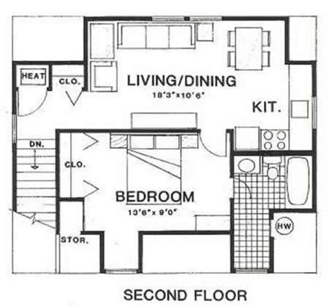 450 sq ft floor plan country style house plan 1 beds 1 baths 450 sq ft plan