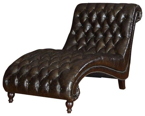 leather tufted chaise princess tufted leather chaise traditional sofas by