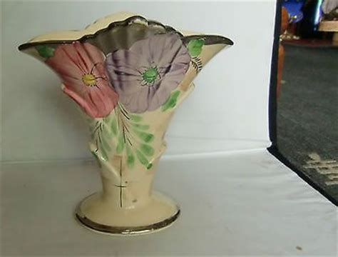deco arthur wood vase painted with original