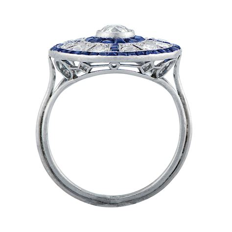 antique and sapphire engagement ring estate