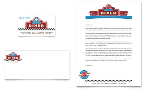 Restaurant Letterhead Templates Free by American Diner Restaurant Business Card Letterhead