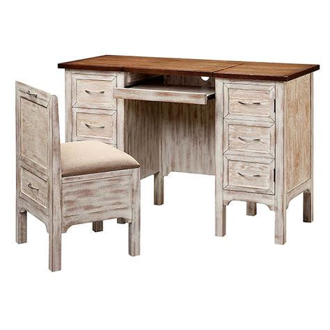 Whitewashed Office Furniture by Whitewashed Oak Desk Set With Lift Top Storage And