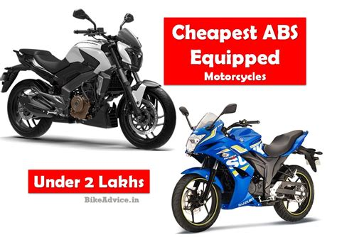 affordable motorcycle cheapest abs motorcycles in india under 2 lakhs list