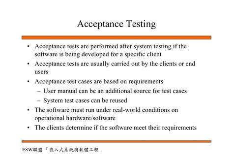 operational acceptance testing template software quality assurance and testing