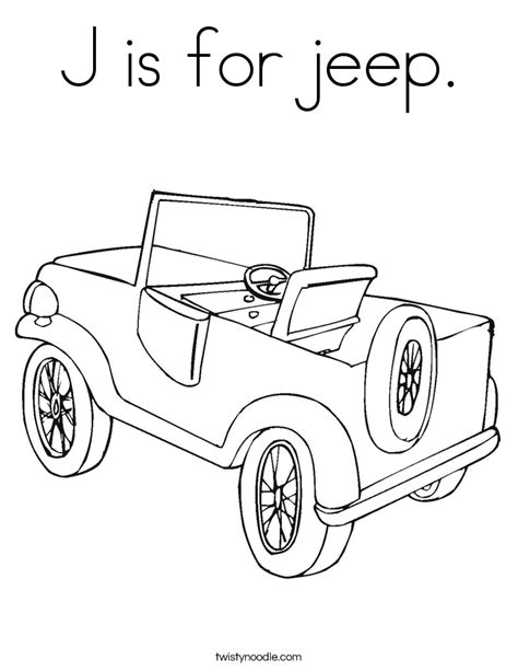 coloring pages for jeep j is for jeep coloring page twisty noodle