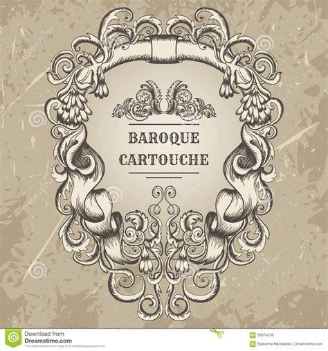 baroque designs antique and baroque cartouche ornaments frame vintage