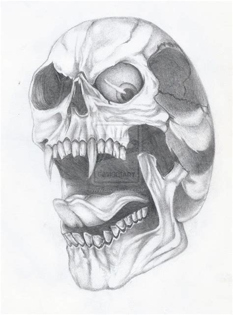skull tattoo drawings awesome skull awesome skull drawings skull drawing