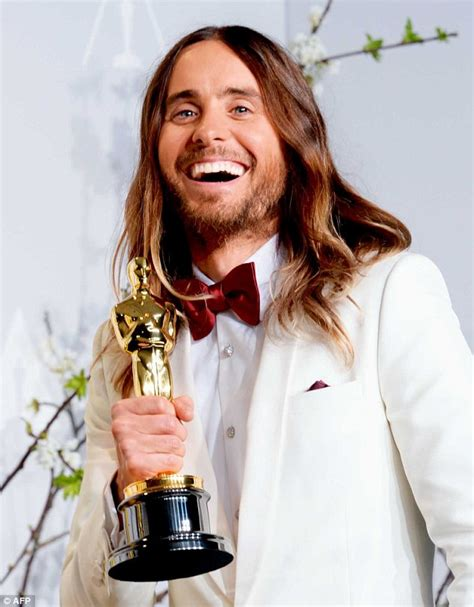 film oscar jared leto jared leto had unwashed hair at oscars to make it look