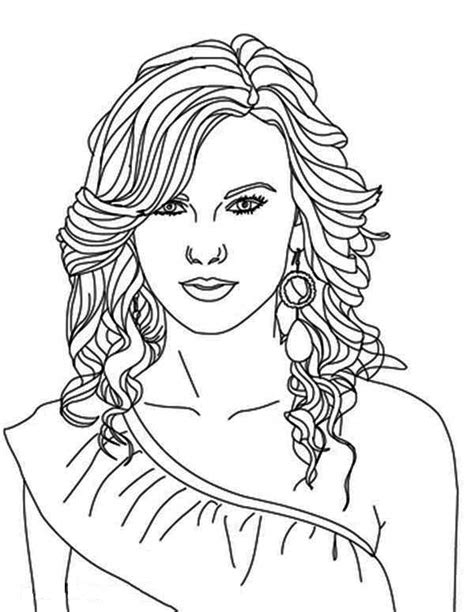coloring pages of people s hair taylor swift coloring pages bestofcoloring com