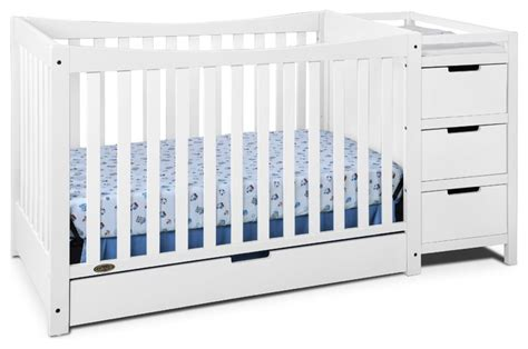 modern convertible crib graco remi 4 in 1 convertible crib and changer white