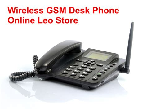sim card wireless gsm desk phone quadband sms function