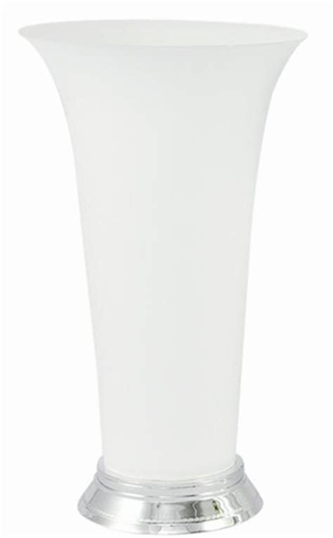 Plastic Trumpet Vases by Plastic Trumpet Vase White