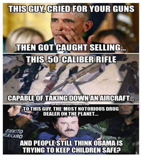 Meme Obama - look awesome meme destroys obama on gun control