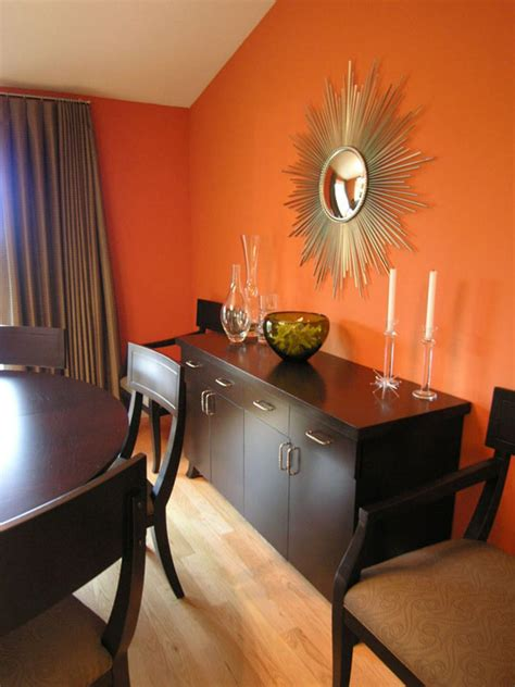 orange dining room orange design ideas color palette and schemes for rooms