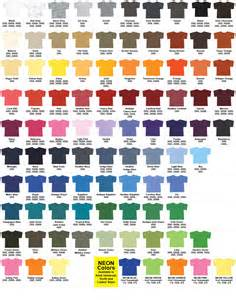 gildan tshirt colors t shirt details color chart imagintee