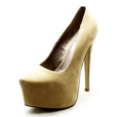 mega high heels womens mega platform killer high heel court shoes ebay