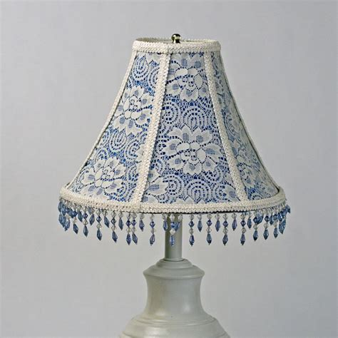 Blue Chandelier Shades Floral L Shades Lace L Shadeblue L Shadevictorian Lshadevintage