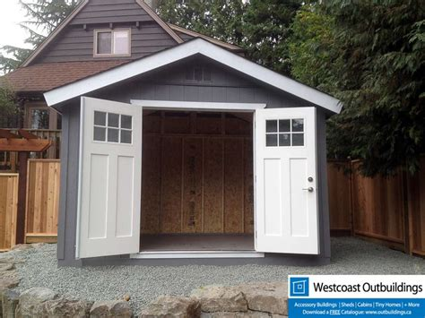 8 X 12 Sheds by 8x12 Craftsman Garden Shed Westcoast Outbuildings