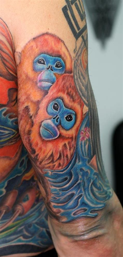 golden monkey tattoo monkey bush warriors