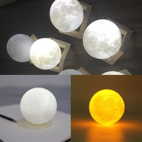 moon light for bedroom 3d color change usb touch switch led moon night light