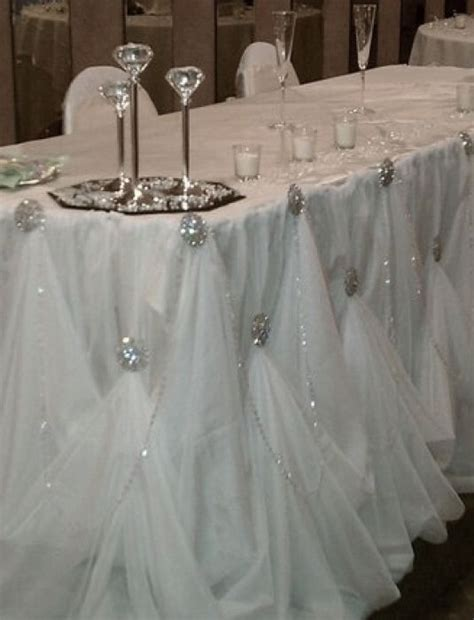 draping tulle head table draping weddingbee