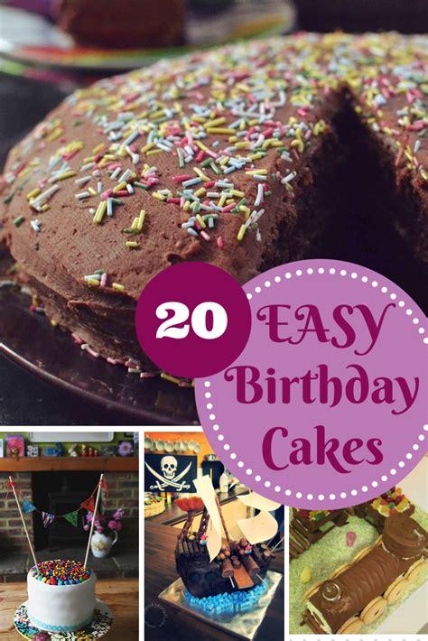 easy birthday cake recipes   playroom