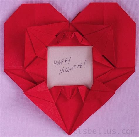 Origami For Valentines Day - cranes picture frame new origami model for
