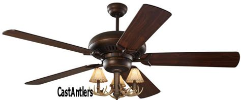 standard size fans 60 quot 3 light antler ceiling fan