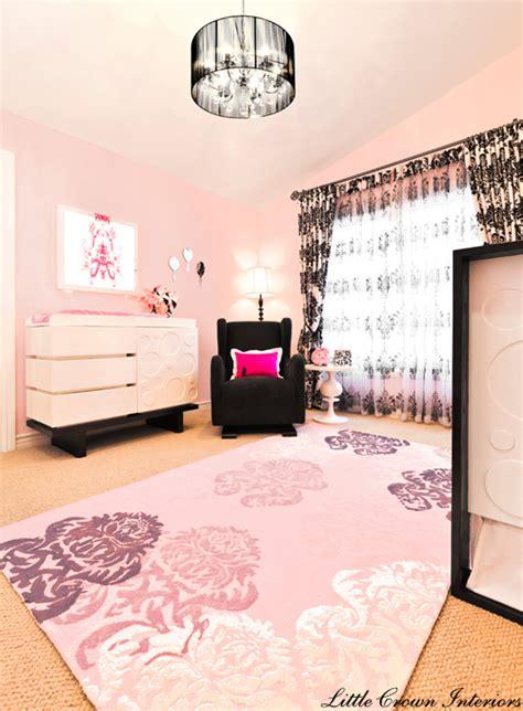 Pink And Black Nursery Decor Glamorous Pink Black S Designer Nursery Project