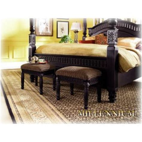 britannia rose bedroom set b651 09 ashley furniture britannia rose bench black finish