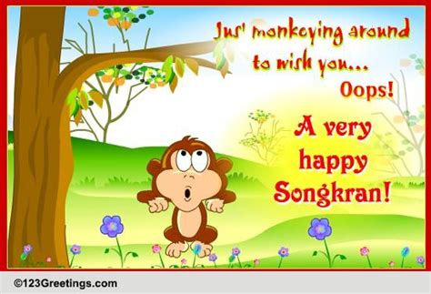 new year wishes in thai jus monkeying around free songkran thailand ecards