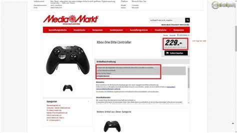 ebay xbox one elite controller german electronic store quot media markt quot removes xbox one
