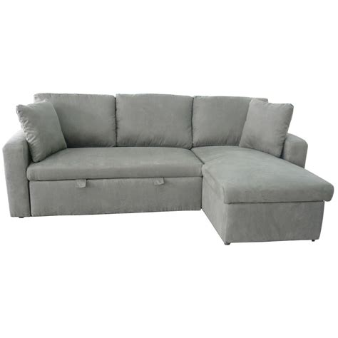 Sky Fabric Corner Sofa Bed With Storage Next Day Corner Sofa Bed With Storage