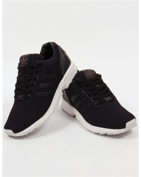 adidas zx flux trainers blackblackwhiteoriginalsshoessneakersmen