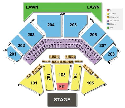 tinley park concert seating chart seating chart for tinley park hitheater brokeasshome