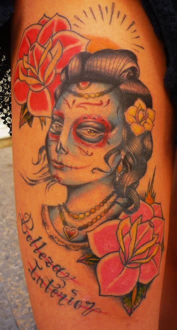 tattoo rusa papel de lija