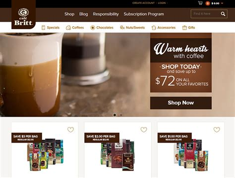 cafe web design inspiration 150 coffee shop and caf 233 websites for design inspiration