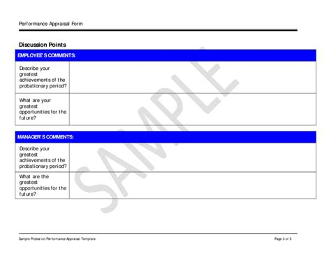 Sle Performance Appraisal Template Hashdoc Employee Performance Discussion Template
