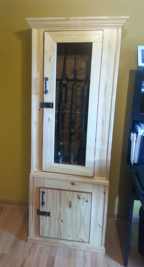 Handmade Gun Cabinet - custom wood gun cabinets woodworking projects plans