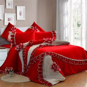 luxury girls bedding big red luxury girls lace flowers frilly princess duvet