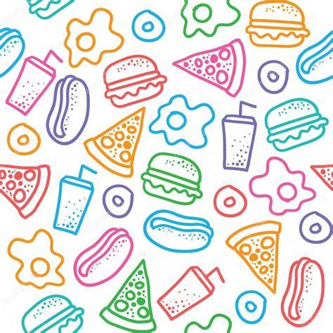 pattern food vector fast food pattern stock vector 169 redcollegiya 23072088
