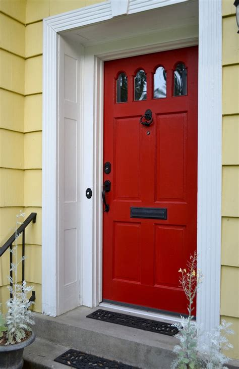 painted front door red front door to boost positive energy of your house