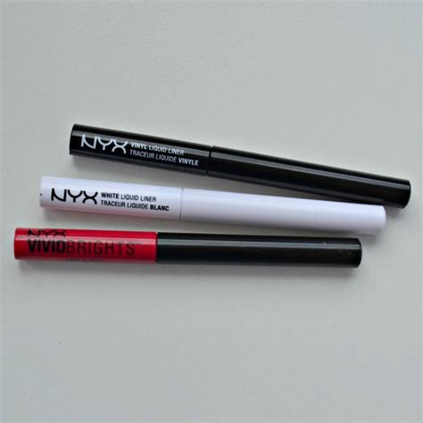 Eyeliner Nyx White nyx liquid eyeliners and affordable by miss l