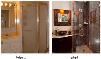Remodeling project form these amazing before and after bathrooms