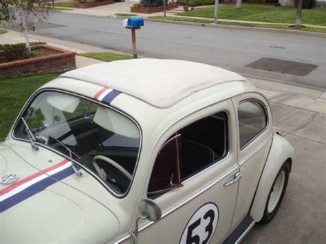 volkswagen beetle classic herbie 1963 vw ragtop sunroof bug herbie the love bug classic