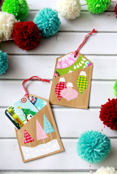 Gift Cards Holders - colorful stitched gift card holders