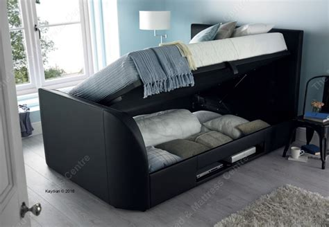 ottoman beds uk double kaydian uk double barnard tv ottoman bed in black bed