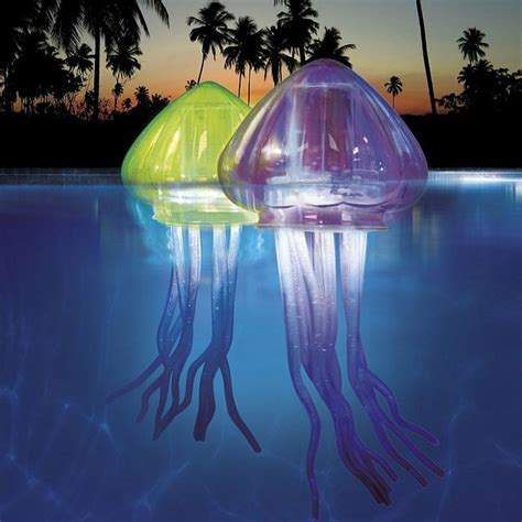 solar swimming pool lights light up jellies eerie glowing jellyfish for