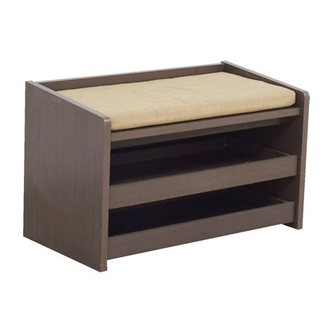second hand storage bench 40 off the container store the container store mercer